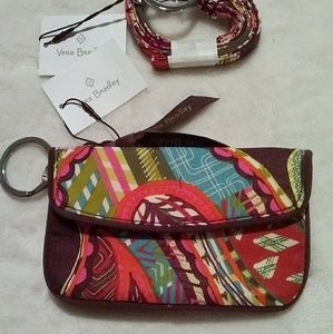 Vera Bradley Accessories - 2 PC SET Lanyard SET zip ID wallet Vera Bradley